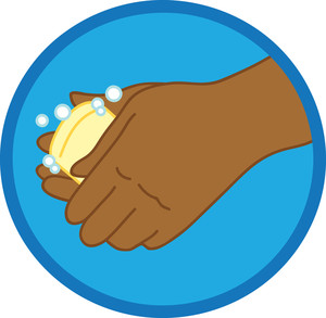 Washing Hands Clipart Image.