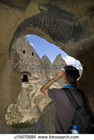 Stock Photo of Cave dwelling in Cappadocia, also Capadocia.