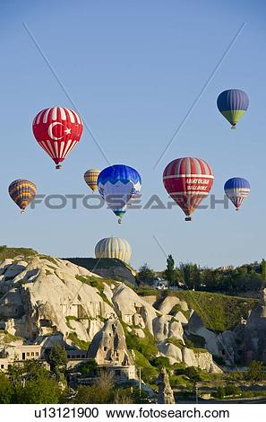 Stock Photography of Ballooning at Goreme, Cappadocia, also.
