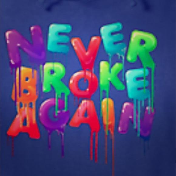 Never broke again sports wear.