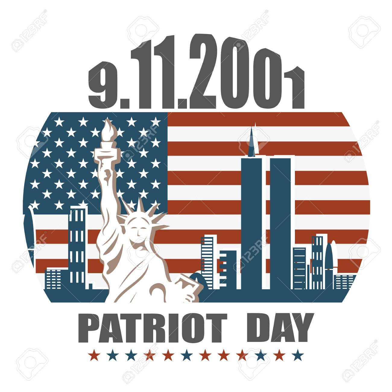 Patriot day we will never forget September 11, 2001, 9/11, greeting...