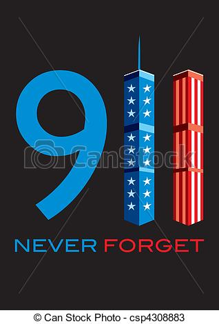 Vectors of 911 Never Forget.
