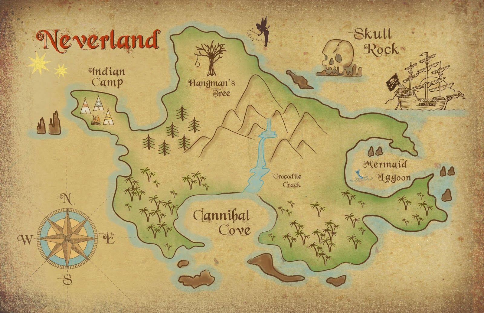 Neverland map download.