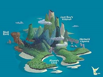 Neverland Island Silhouette.