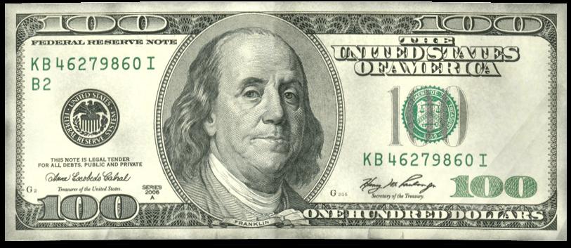 Dollar Vector $100.