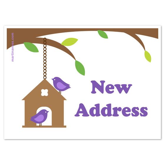 New address birdie card, Invitations & Cards on Pingg.com.