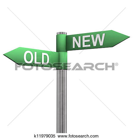 Stock Illustration of New Old Directions k11979035.