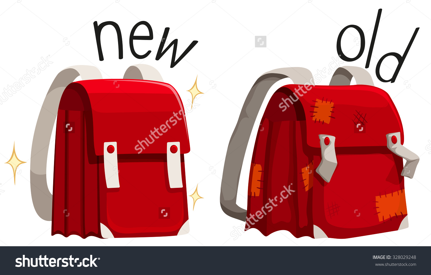 Schoolbag New Old Illustration Stock Vector 328029248.