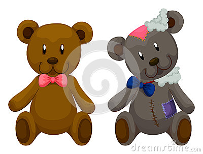Old Teddy Bears Stock Images.