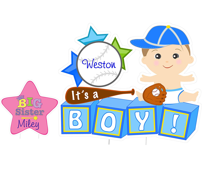 Amazon.com : Cute News Custom Newborn Baby Boy Yard Sign Kit.