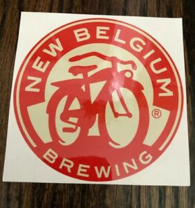 Details about NEW BELGIUM BREWING Promo Sticker BICYCLE LOGO craft beer  brewery Fat Tire.