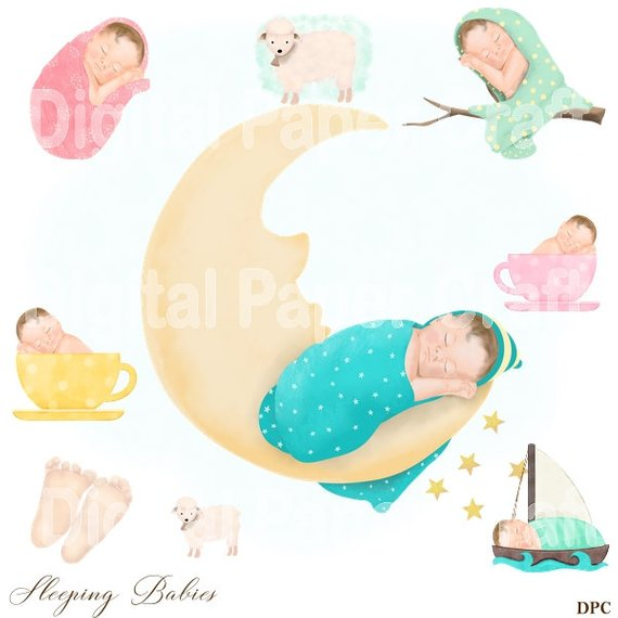 Baby Clipart Shower Baby Boy Baby Girl Newborn , Watercolor.