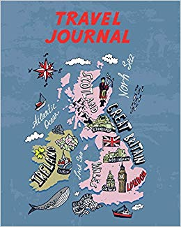 Travel Journal: Map Of Great Britain And Ireland. Kid\'s.