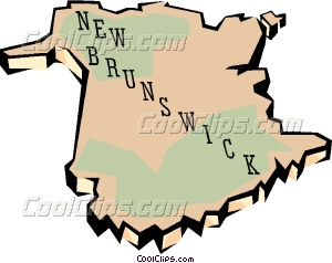 New Brunswick map Vector Clip art.