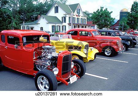 Stock Photography of hot rod, antique cars, hotrod, Catskill.