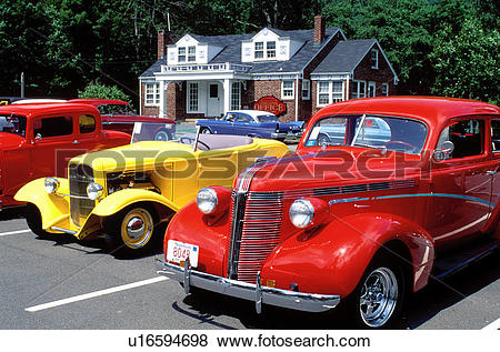 Pictures of hot rod, hotrod, antique cars, Catskill Mountains.