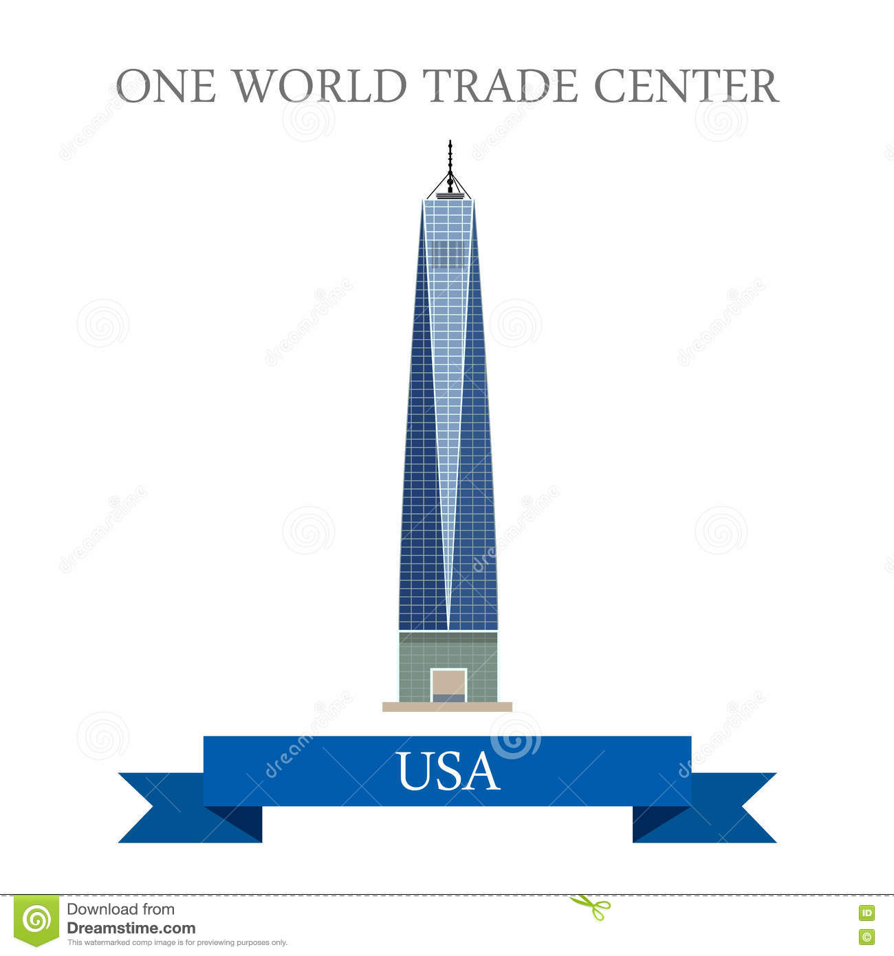 One world trade center clipart.