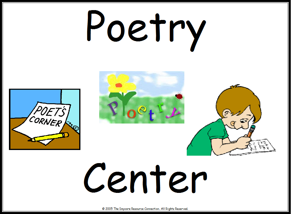 Poetry center clipart.