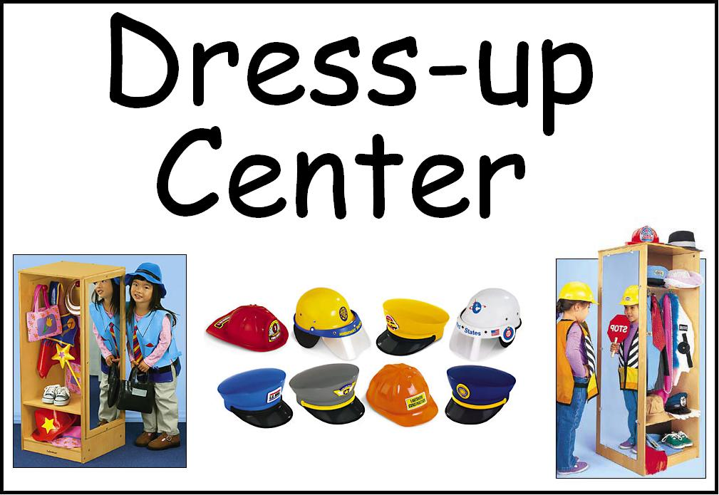 Dress Up Play Centers Clipart.