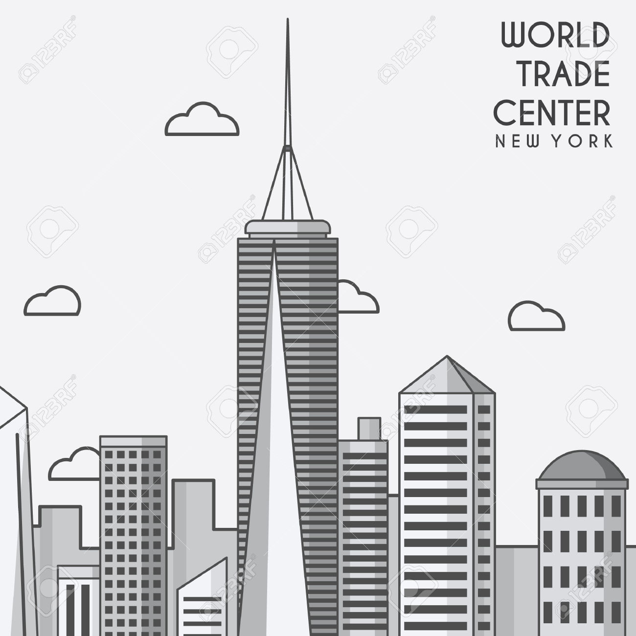 World trade center clipart.