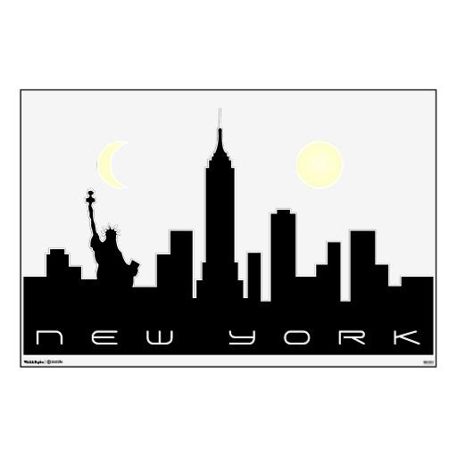 New york city skyline silhouette clip art.