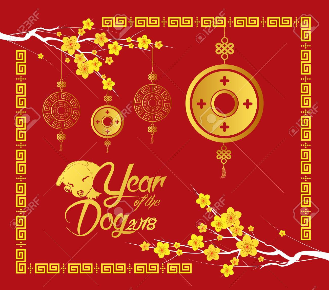 3469 Chinese New Year free clipart.