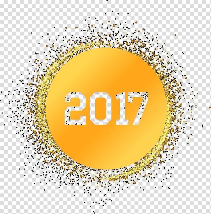 Light Gold Yellow, Golden light effect New Year\\\'s Day 2017.