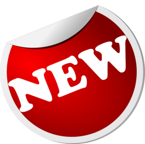 New Red Button Rotated Left PNG, SVG Clip art for Web.
