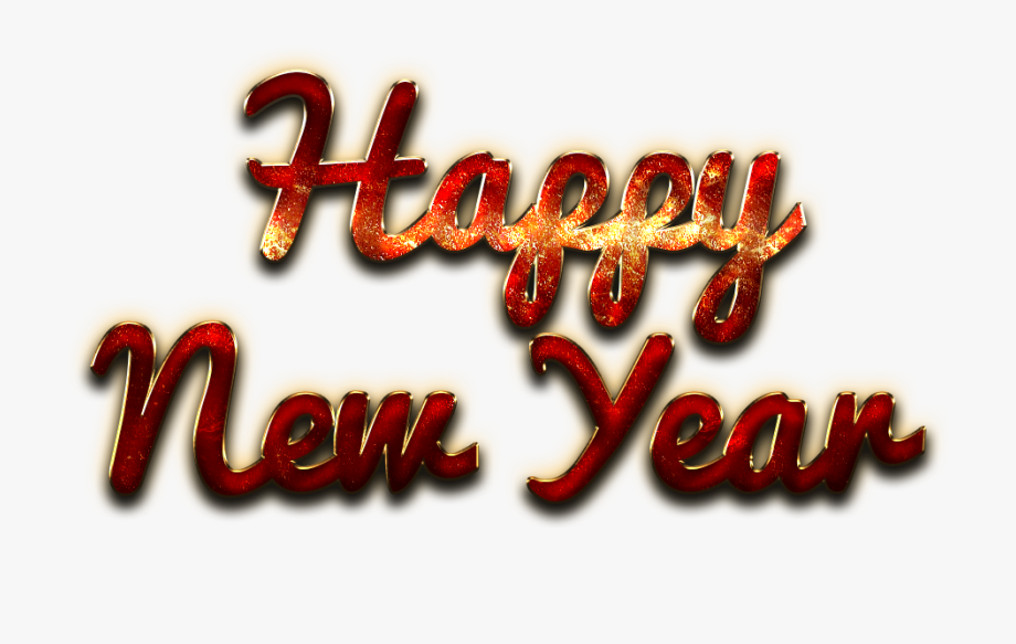 Happy New Year Letter Png Clipart.