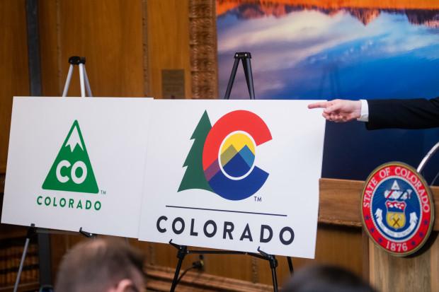 Gov. Jared Polis unveils new Colorado logo with tree, \