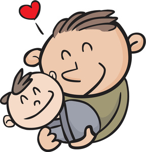 Dad And Baby Clipart.