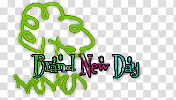 Brand new day text transparent background PNG clipart.