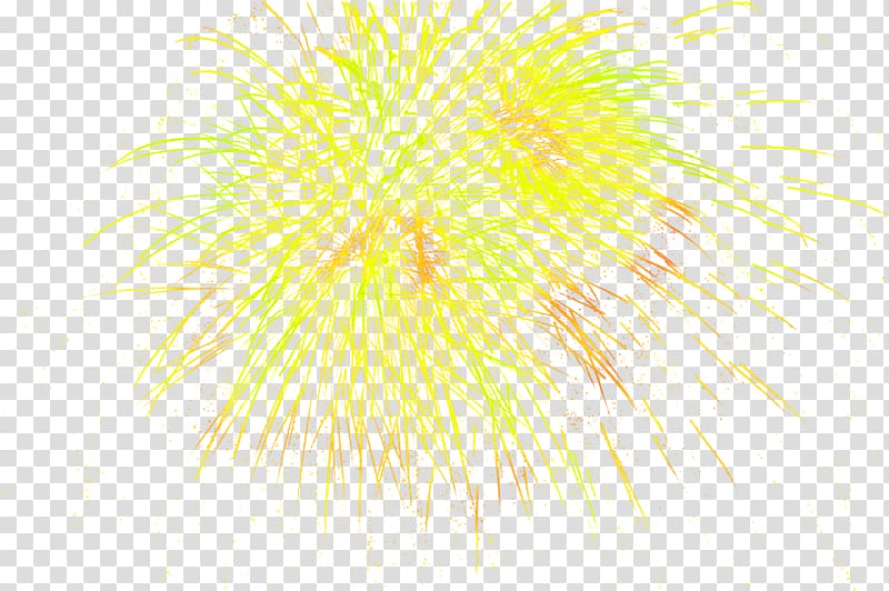 Fireworks New Years Day Chinese New Year, Yellow simple.