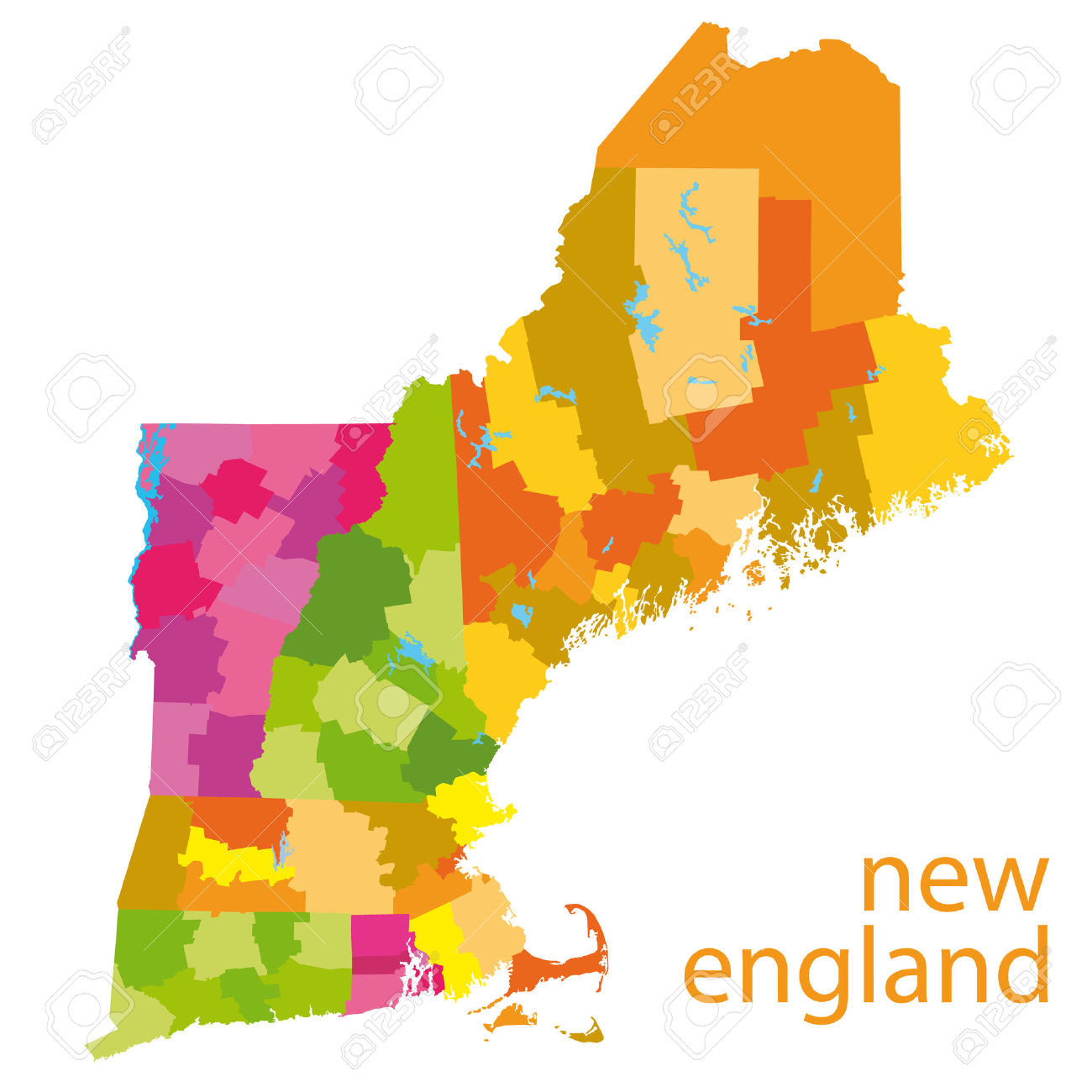 New England Map Royalty Free Cliparts, Vectors, And Stock.