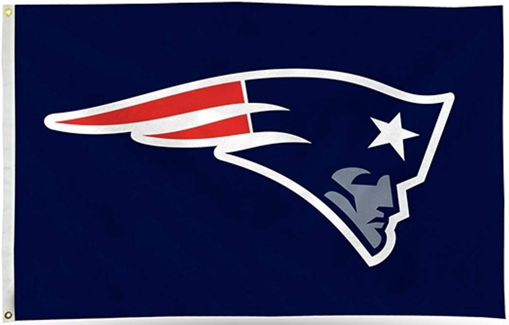 Rico New England Patriots Logo ONLY 3x5 Flag w/Grommets Outdoor House  Banner NFL Football.