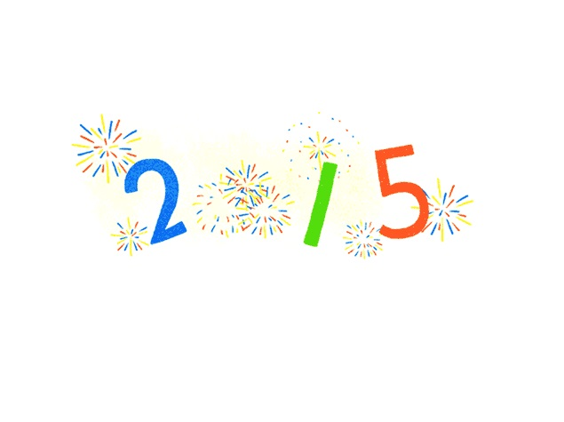 New Year 2015: Google Says Happy New Year With Fireworks.