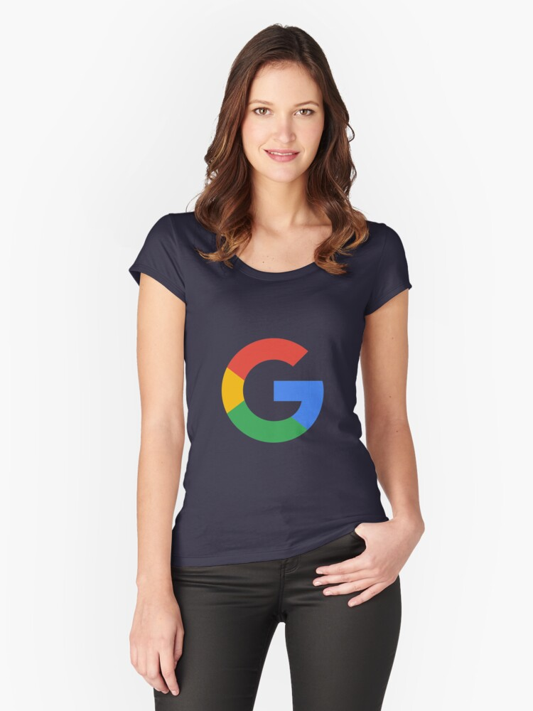 \'Google Logo\' Women\'s Fitted Scoop T.