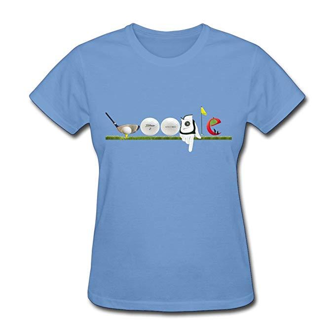 Amazon.com: YMGG Womens T Shirt Google Doodle Golf Size XS.