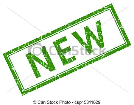 Clip Art of new green square stamp csp15311829.