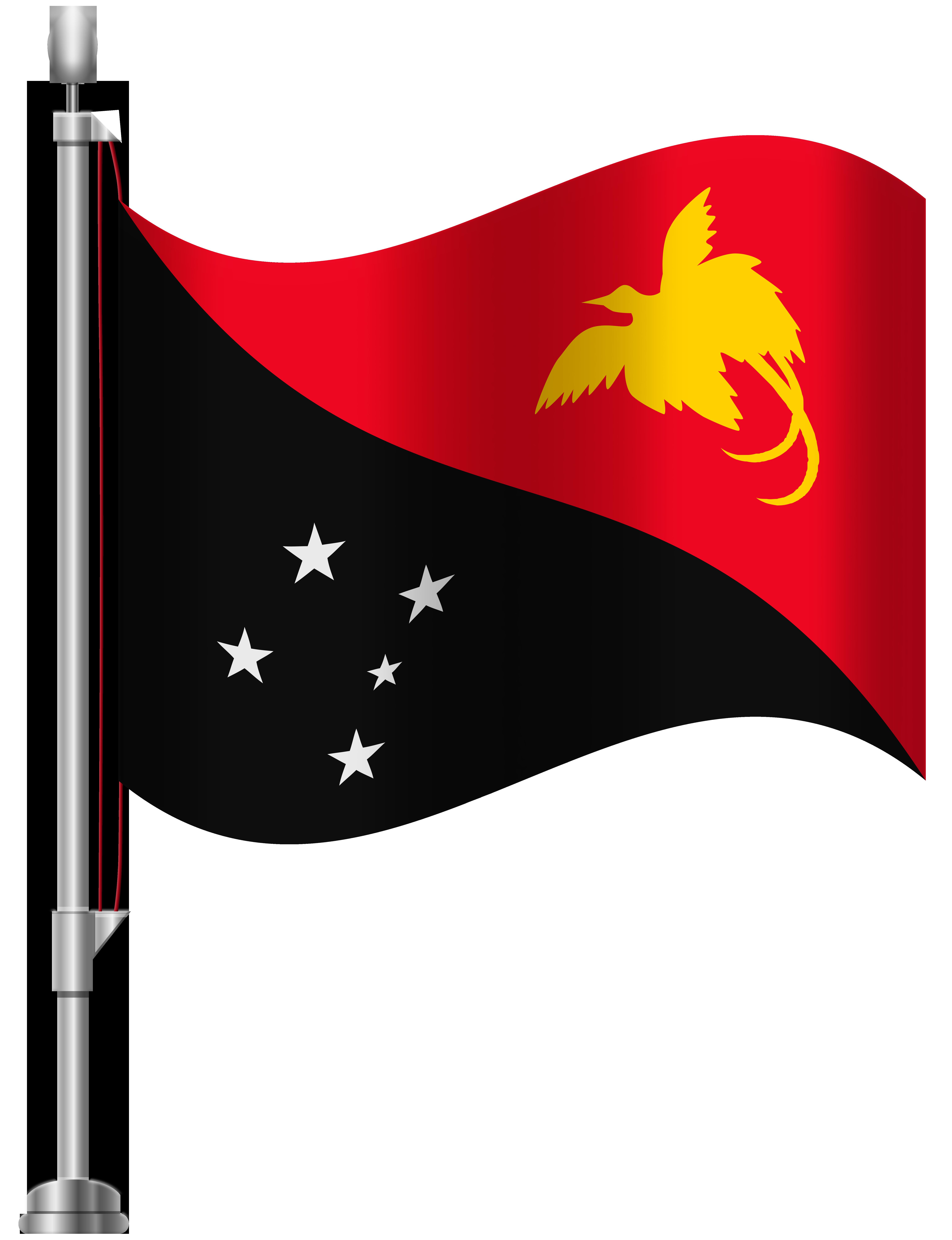 Papua New Guinea Flag PNG Clip Art.
