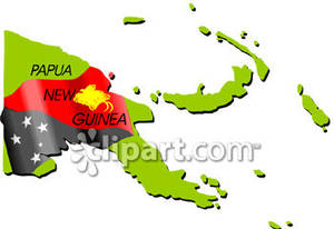 Papua new guinea map clipart.