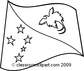 Papua new guinea black and white clipart.