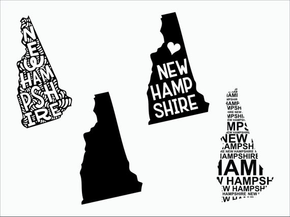New Hampshire state svg/ New Hampshire silhouette/ New Hampshire vector/  New Hampshire clipart/ NH outline/ New Hampshire svg/ svg file.