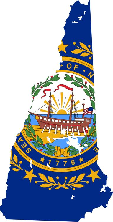 New Hampshire Flag 072811» Vector Clip Art.