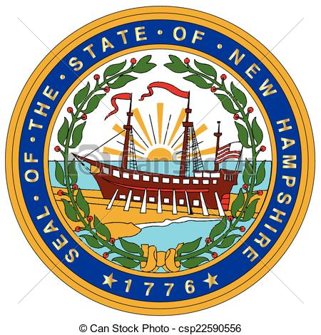 Clipart Vector of New Hampshire State Seal.