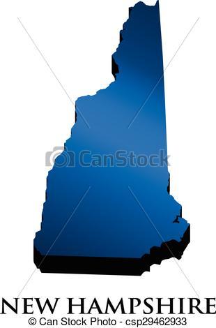 Vectors of New Hampshire 3D map logo csp29462933.