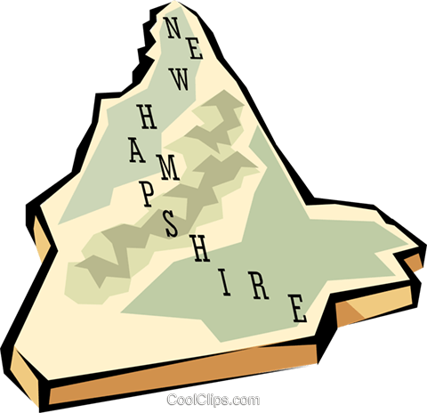 New Hampshire state map Royalty Free Vector Clip Art illustration.