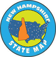 Fifty US States: New Hampshire Clipart.