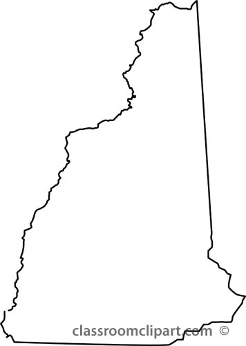 New hampshire outline clipart free.
