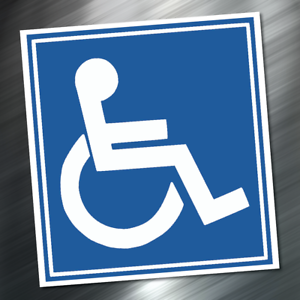 Details about (1) Handicap Logo Sign Table Sticker Decal 3.75\